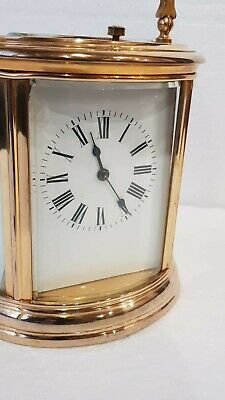 Large Oval Case Ormolu Repeat Strike 4 Glass Carriage Clock 4