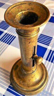 Antiguo Candelero De Bronce - Siglo Xix 10