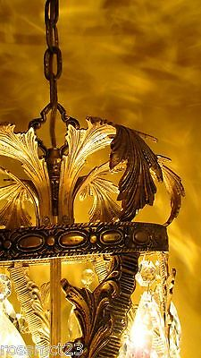 Vintage Lighting spectacular 1960s Hollywood Regency pendant by Halcolite 2