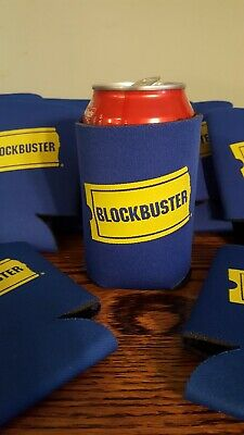 Vintage BLOCKBUSTER VIDEO Beer//Soda Can Koozie 1990/'s Retro Relic VHS Rental NOS