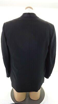 Mid-Town Formale UOMO Lana Nero Completo Tuxedo 42r 38 x 31 Pantaloni 4