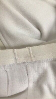 John Lewis & Partners Girl  Thermal Long Johns / White 7-8 Years New With Defect 2