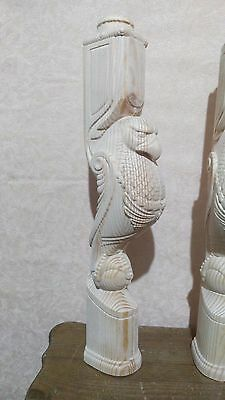 Wooden stairs Baluster, unique carved eagle statue, decorative element. 4