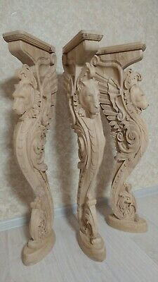 """38"""" Wooden stairs Baluster Newel, oak carved  gryphon statue, decorative element 6"""