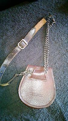 Scottish Leather Cow Hide Pouch/Sporran Money purse chained strap 9