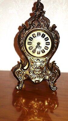 Beautiful Mechanical Antique Brass Mercedes Table Clock 20 cm High 2