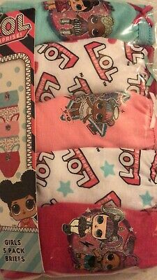 5 Pairs Girls LOL L.O.L. Surprise Doll Knickers Briefs Underwear Age 1 - 10 Year 2