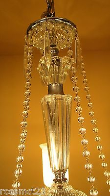 Vintage Lighting all original 1940s crystal chandelier 7