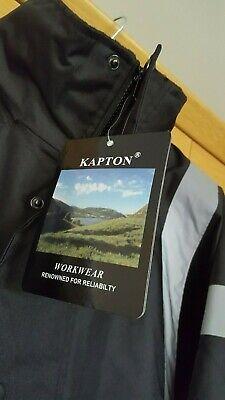 KAPTON Men's HiViz High Visibility Safety Security Coat Black XL RRP £45 3