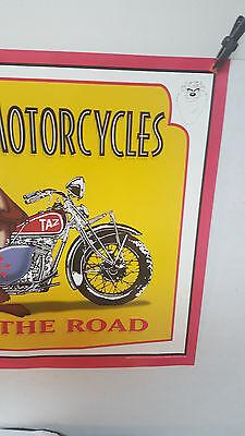 Taz Tasmanian Devil Motorcycle Poster 1998 Looney Tunes EAT UP THE ROAD  20 x 16