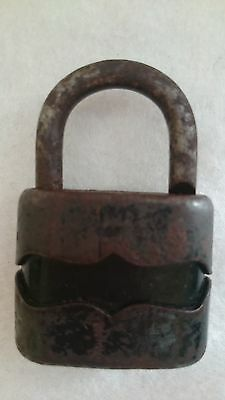Vintage Solid Cast Iron Padlock System Dulv №35L No Key 3