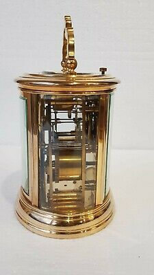 Large Oval Case Ormolu Repeat Strike 4 Glass Carriage Clock 9