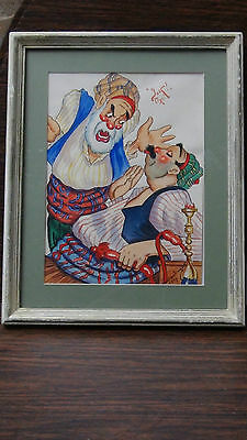 "Rare1920 Constantinople Street Scene""yok! Oxl!"" Original Watercolor Painting 2"