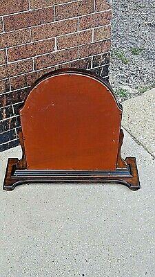 Antique Edwardian Walnut dresser chest pedestal Arched mirror 5