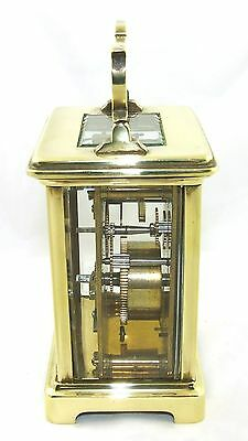 Antique Brass & Bevelled Glass Carriage Clock JAYS 142 & 144 OXFORD ST. W  (46) 5
