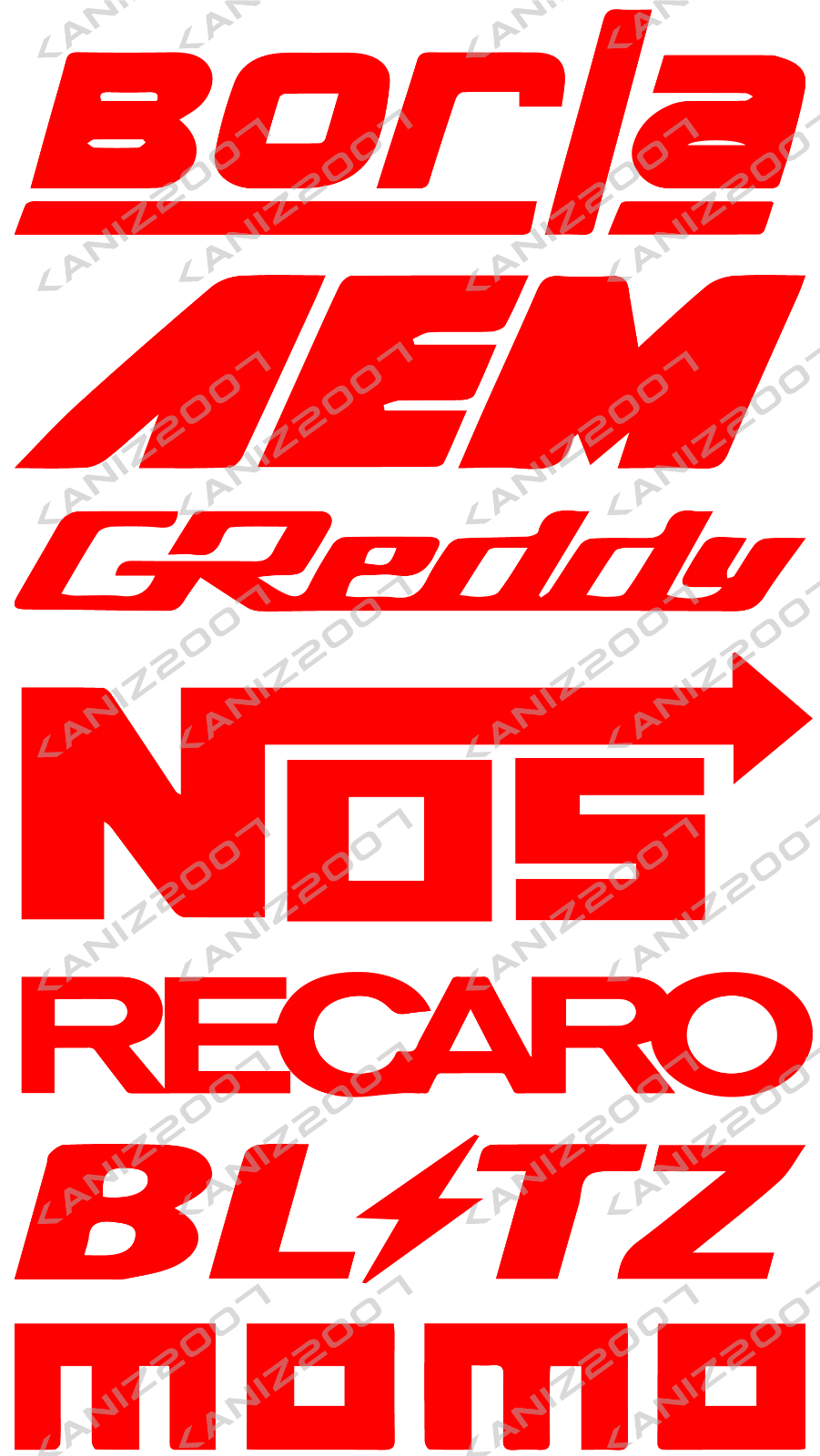 9 racing car sponsor decal pack custom color jdm racing stickers 3 3 of 9