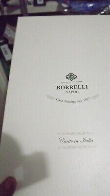 BORRELLI NAPOLI REALE SARTORIA 1°LINEA CAMICIA 43 COTONE FATTA A MANO   sh1051 5