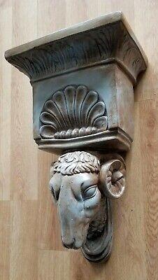 Ram Head Regency Plaster Wall Bracket Corbel Shelf 4