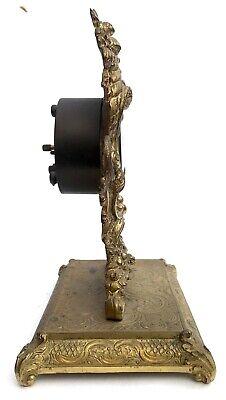 Lovely Antique German Ormolu Strut / Easel Mantel Clock 3
