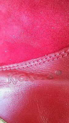 b0bcda97f54efb ... Chaussures Bottines Plates Femme Kickers - Cuir Et Nubuck Rouge - Pointure  41 5