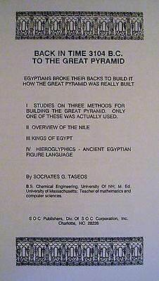 Egypt Pyramid Egyptology Engineering Archaeology Architecture Book 1990 2