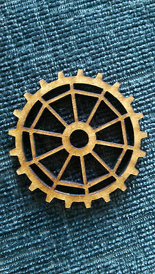 MDF Wooden Shapes Cogs 250mm High 3mm Thick Custom Cut x 2 pieces cog29