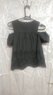 Next Girls Top Blouse Size 10 Years Black Brand New BNWT 2