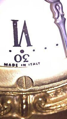 Gracious wonderful chiming itallian clock marble & brass with key working fine 5