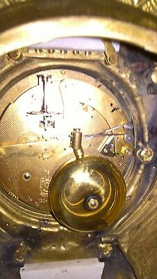 Gracious wonderful chiming itallian clock marble & brass with key working fine 8