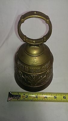 Qui Me Tangit Vocem Meam Audit Brass Bell Door Knocker Soldier with Spear Design 3