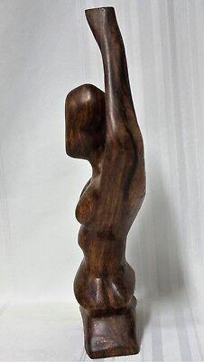 2 Carved Wooden Yoga Pose Sculptures 5