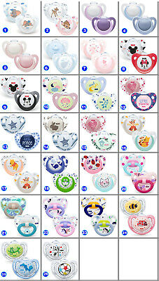 2 PACK NUK Dummy Pacifier teat nipple soother Baby Soothe  0-6m/3-6m/18m freeBPA 2