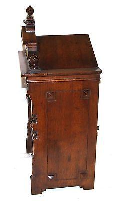 Antique Oak & Brass TING TANG Bracket Mantel Clock : CLEANED & SERVICED (a60) 8