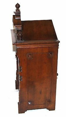 # Antique Oak & Brass TING TANG Bracket Mantel Clock : CLEANED & SERVICED (a60) 8
