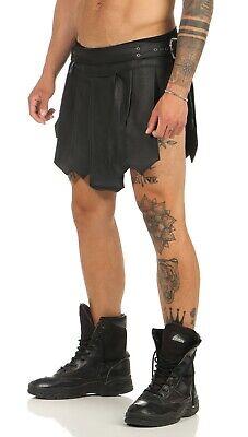 XS-XXXL*Gladiator Kilt Skirt Legionär Rock Schwarz NEU Gürtel Schnallen Larp NEU 9