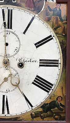 Antique 8 Day Rolling Moon Grand Father Clock By Price Of Chester 7