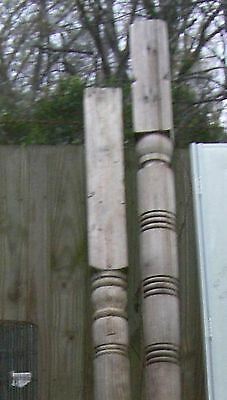 Victorian wood  Column turned Post porch Vintage 6