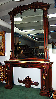 Renaissance Revival Mantel and Over Mirror #4878 3