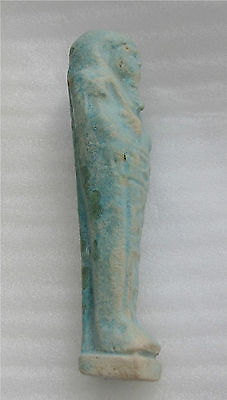 Egypt 662 Bc Xxvi Dynasty Funeral Death Ushabti  Faience  Mummy Blue Color 7