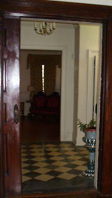 Antique Pocket door  with  beautiful brass  door knobs Architectural  Salvage 5