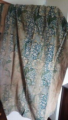 William Morris & Co Curtains ca 1900 w/ Label Arts and Crafts Design Victorian 5