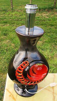 """Vintage Floor Lamp /"""" Walter Gerhaerds Keramik /""""soendgen Foot Space age 60/'s 70/'s"""