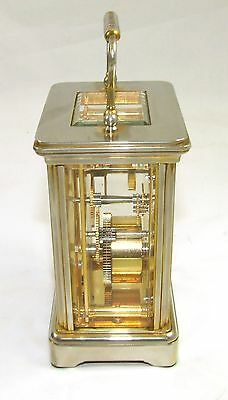 ENGLISH GARRARD & CO LONDON W1 Brass Carriage Clock with Original Box : Working 5