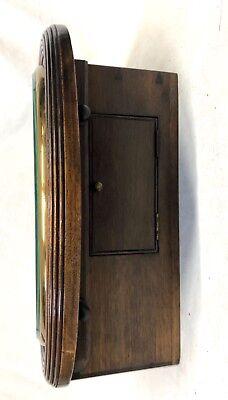 National Provincial Bank CHAIN Fusee Mahogany Wall Clock SIR JOHN BENNETT LONDON 7