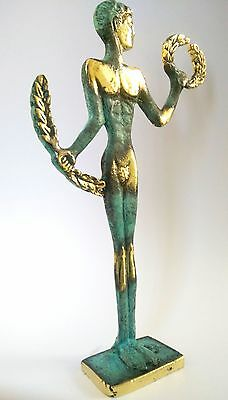 Ancient Greek Bronze Museum Statue Replica Of Olympic Games Winner Collectable 4