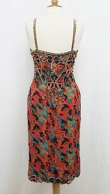 Jasdee Vintage Bead & Sequins Dress Hand Work & Hand Print On Silk Style 5007L 2