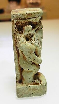 Zurqieh - As10010- Ancient Egyptian Large Faience Bes Figure. 600 - 300 B.c 4