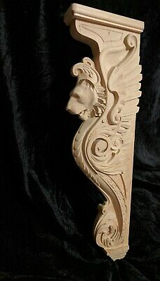 "25"" Lion Corbel, Wooden Corbel, Rustic Corbel, Fireplace Surround, lion art 4"