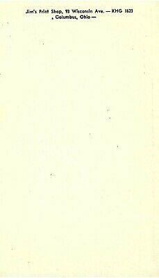 Vintage QSL Postcard   KNN 1610   Columbus, Ohio   Carl Rees  -T- 2