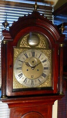 "Antique Mahogany Eight Day "" London "" Longcase / Grandfather Clock 6"